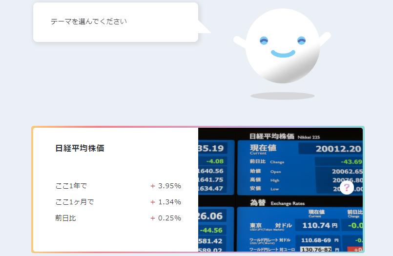 dポイント投資テーマ日経